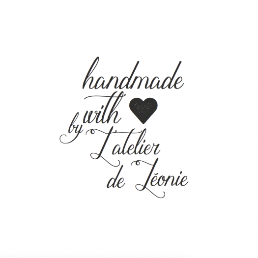 tampon personnalisé Handmade with Love by
