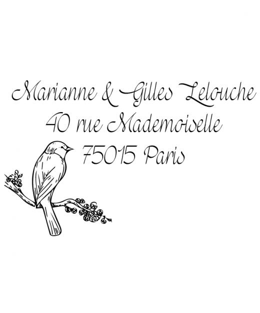 Tampon Adresse Lovely Bird par la Papeterie de Paris