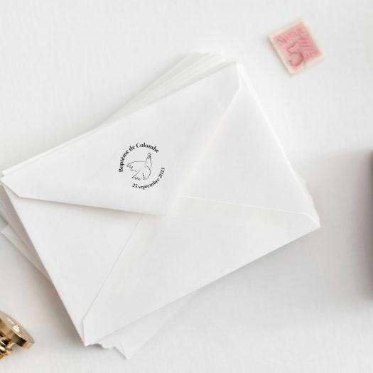 Tampon enveloppe bapteme