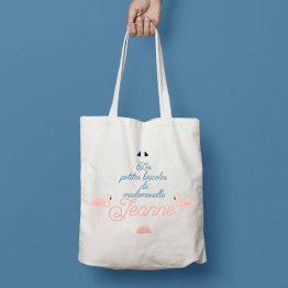 tote bag personnalisé flamant rose