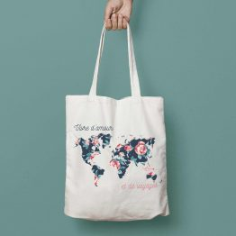 tote bag tour du monde