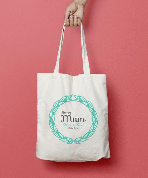 Tote bag personnalisé Happy Mum