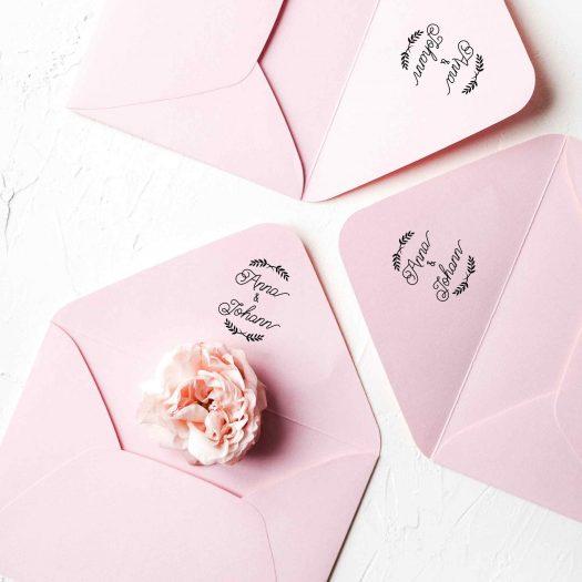 Tampon mariage enveloppe