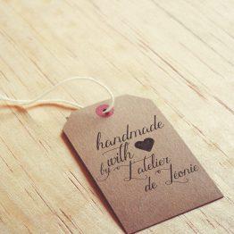 tampon encreur handmade with love par la papeterie de paris