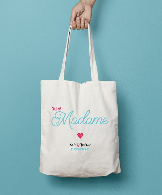 Tote bag coton Call me Madame par la Papeterie de Paris