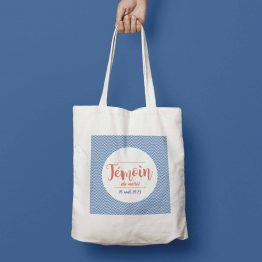 tote bag témoin mariage