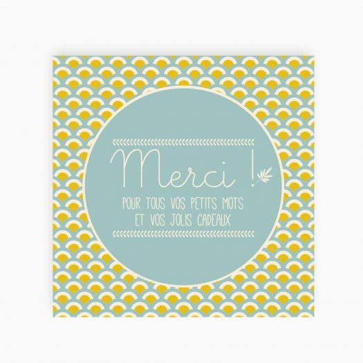 Carte merci faire part