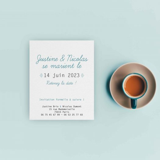 Save the date polaroid