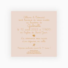 invitation bapteme fille