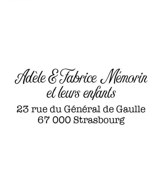 Tampon adresse Classique par La Papeterie de Paris