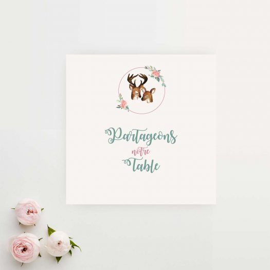 invitation mariage champetre