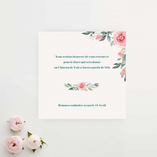 carton diner mariage