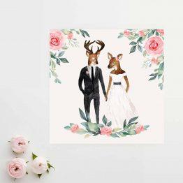 faire part mariage aquarelle