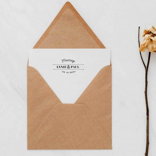 Tampon mariage guinguette