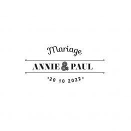 Tampon mariage personnalisé