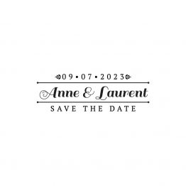 Tampon save the date mariage