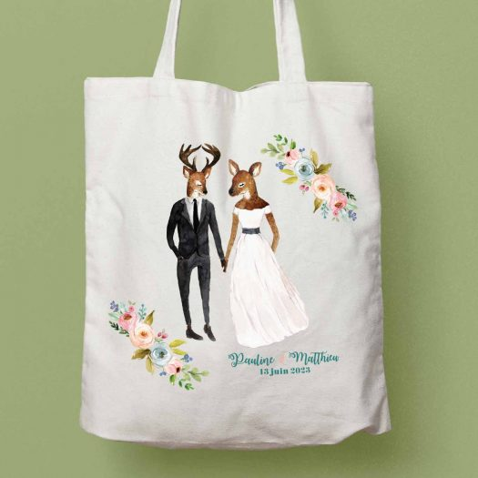 Tote bag champetre mariage