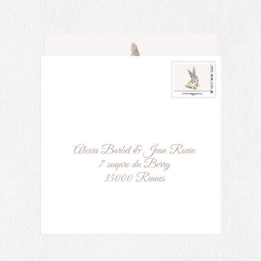 timbre personnalisé naissance Petit Lapin, timbre naissance fille, visuel timbre naissance, timbre faire part naissance, timbre naissance original, timbre personnalisé bébé, La Poste timbre en ligne, timbre naissance lapin - La Papeterie de Paris