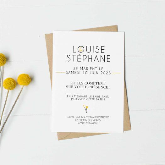 carton save the date mariage