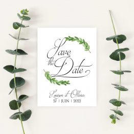 Save the date eucalyptus