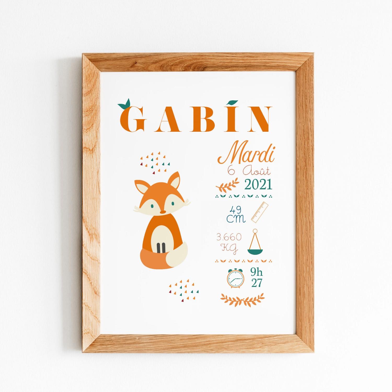 Affiche renard enfant