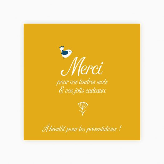 carte faire part merci
