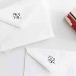 Tampon personnalisé initiales