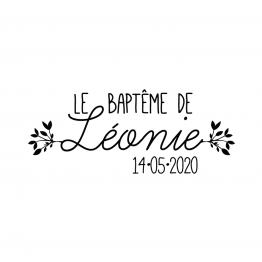 Tampon Baptême Jour de Fête, tampon personnalisé bapteme, tampon bois bapteme, tampon personnalisable baptême, tampon bapteme champetre, tampon prénom bapteme - La Papeterie de Paris