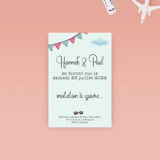 papeterie mariage voyage