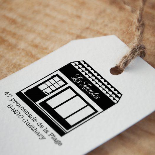 tampon personnalisé boutique Adresse