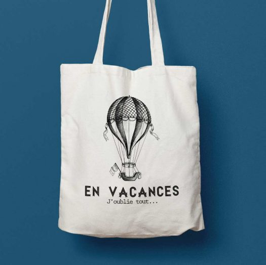tote bag montgolfiere