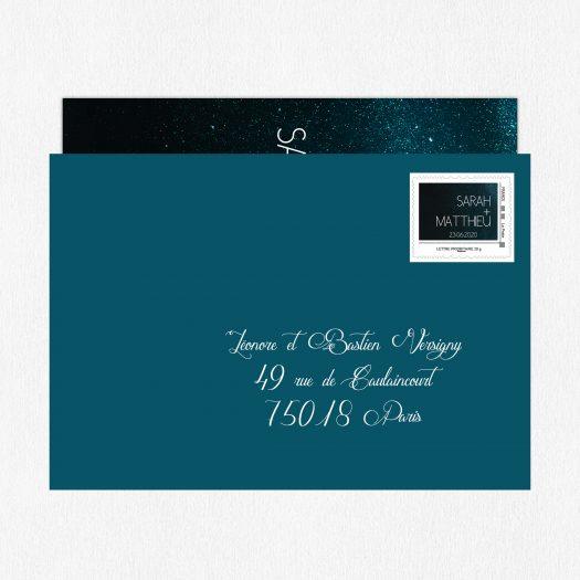 timbre personnalisé mariage Nuit étoilée, timbre mariage La Poste, visuel timbre mariage, timbre poste mariage, timbre mariage faire part, timbre prénoms mariés, visuel timbre mariage - La Papeterie de Paris