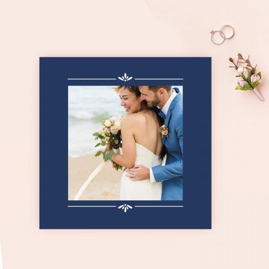 carton remerciement mariage photo