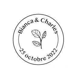 Tampon mariage automne personnalisé