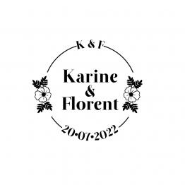 tampon mariage fleurs