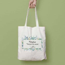 tote bag mariage eucalyptus