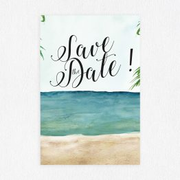 Save the Date à la plage, save the date marin, save the date mer, retenez la date carte, save the date vintage, save the date aquarelle, save the date renards, papeterie mariage original - La Papeterie de Paris