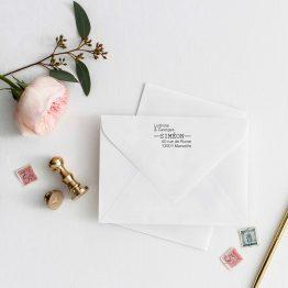 Tampon adresse personnalisé