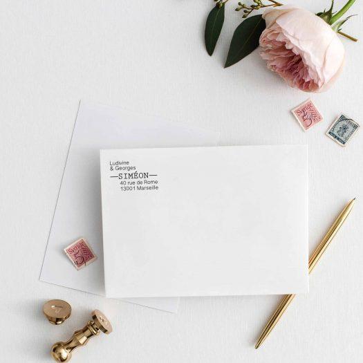 Tampon adresse retour enveloppe