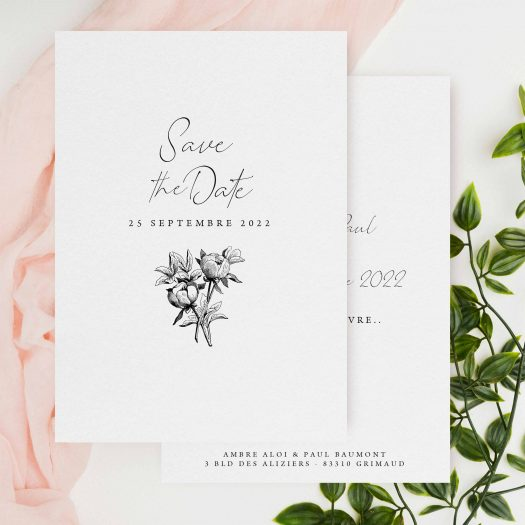 save the date calligraphie
