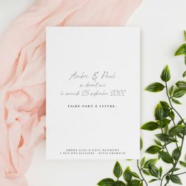 Papeterie mariage chic champetre