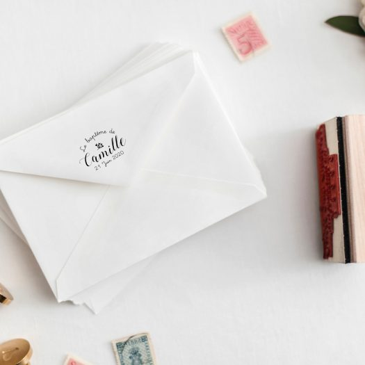 Tampon bapteme enveloppe