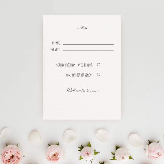 carton réponse mariage champetre