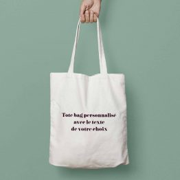 tote bag personnalisable texte