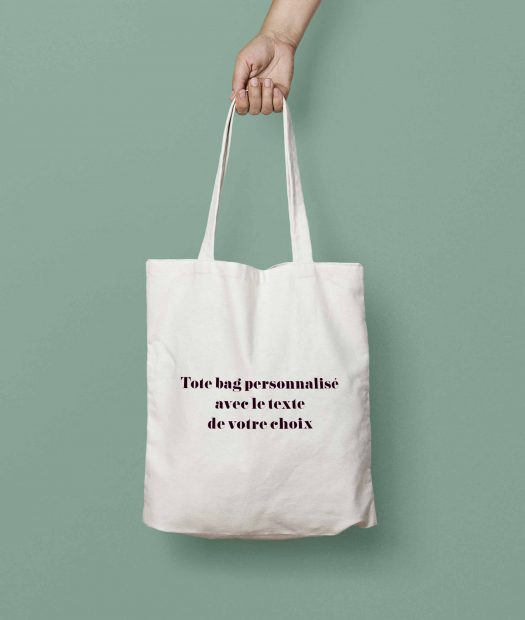 tote bag personnalisable texte