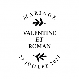Tampon mariage champetre