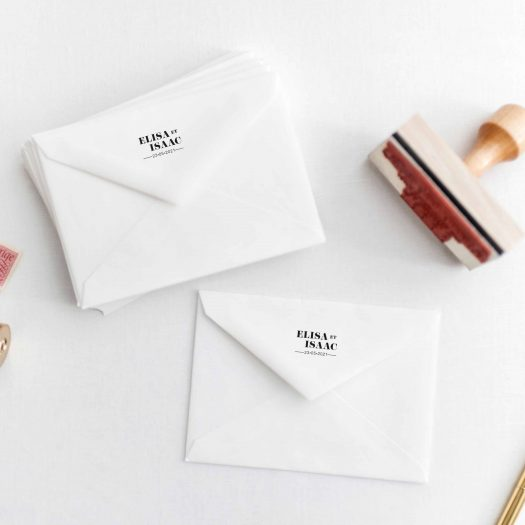 Tampon mariage chic moderne