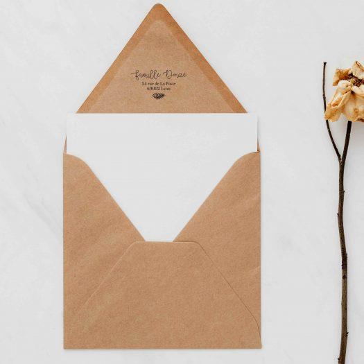 tampon personnalisé enveloppe