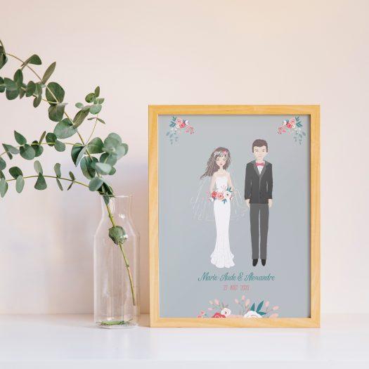 affiche personnalisée mariage
