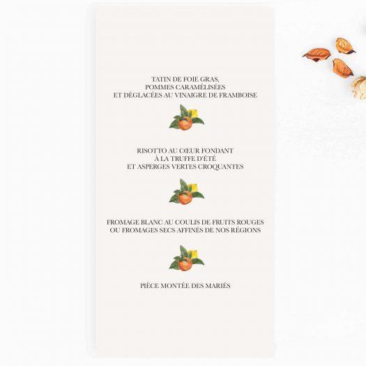 carton menu mariage